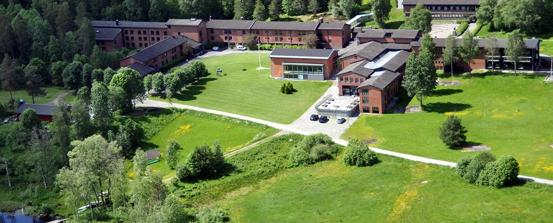 Sørmarka konferansehotell sett fra lufta